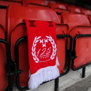 Shelbourne FC scarf in red.