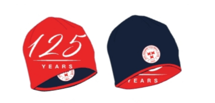 Shelbourne FC reversible hat in red and navy.