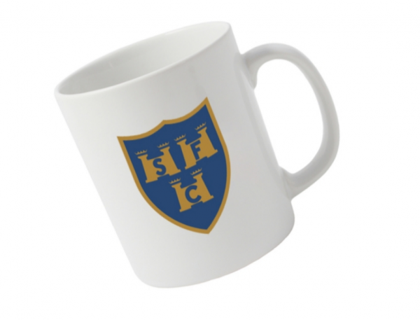 Shelbourne FC mug with 125th anniversary crest