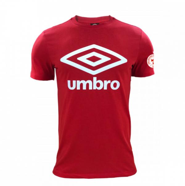 Red Shels large umbro tshirt