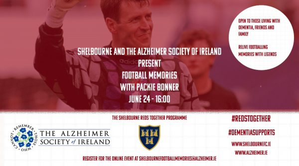 Shels team up with The Alzheimer Society of Ireland for Football Memories events